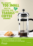 Recycle for London - Food recycling - Coffee (Cafetiere) - A3/A4 poster
