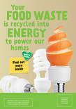 Food recycling - A5 leaflet - Orange front cover