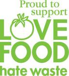 Love Food Hate Waste  'Proud to Support' Logos
