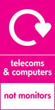 Telecoms & Computers signage - logo (portrait)