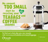 Recycle for London - Food recycling - Coffee (Cafetiere) - Vehicle livery (square)