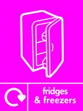 Fridges & Freezers signage - fridge icon with logo (portrait)