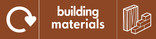 Building Materials signage - Materials icon with logo (landscape)
