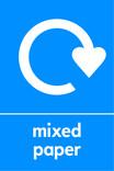 Mixed paper signage - logo (portrait)
