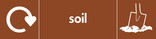 Soil signage - soil icon with logo (landscape)