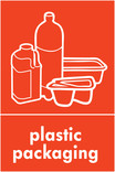 Plastic packaging signage - packaging icon (portrait)