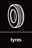 Tyres signage - Tyre icon (portrait)