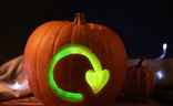Recycle Halloween Pumpkin
