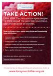 Love Your Clothes - Take Action - A5 Flyer