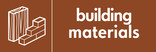 Building Materials signage - Materials icon (landscape)