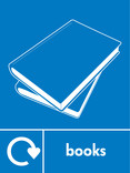 Books signage - books icon with logo (portrait)