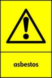 Asbestos signage - hazard icon (portrait)