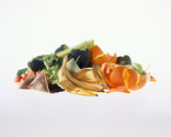 Small pile of food waste