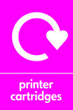 Printer Cartridges signage - logo (portrait)