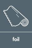 Foil signage - roll of foil icon (portrait)