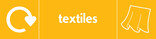 Textiles signage - curtains icon with logo (landscape)