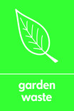 Garden waste signage - leaf icon (portrait)