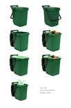 Green Large Food Bin Set