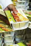 Ready meal lasagne in supermarket