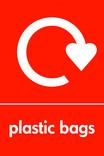 Plastic bags signage - logo (portrait)