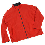 Men's red fleece jacket
