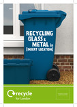 Recycle for London - Good to Know Metal and Glass A5 leaflet - recycling container cover