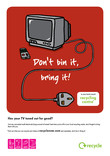 Don't Bin it Bring it - A3 poster for TVs