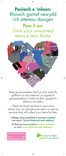 Pass it On Reuse - Pull-up banner - Textiles & Clothing heart - Bilingual (Welsh-English)