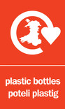 Plastic Bottles signage - logo (portrait, English-Welsh)