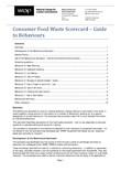 Consumer food waste scorecard