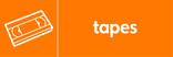 Tapes signage - videotape icon (landscape)