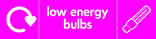Low energy bulbs signage - bulb icon with logo (landscape)
