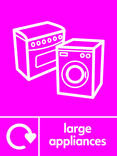 Large Appliances signage - cooker & washing machine icon with logo (portrait)