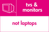 TVs & Monitors (not laptops) signage - TV icon (landscape)