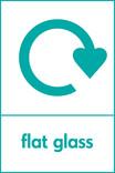 Flat glass signage - logo (portrait)