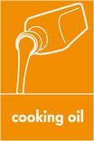 Cooking oil signage - oil icon (portrait)