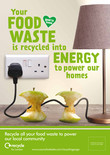Recycle for London - Food recycling - Apple - A3/A4 poster