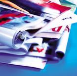 Pile of folded magazines