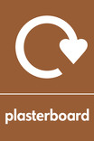 Plasterboard signage - logo (portrait)