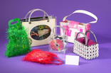 Bags made from upcycled plastic, CDs and metal bottle tops