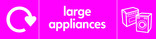 Large Appliances signage - cooker & washing machine icon with logo (landscape)