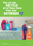 Good to Know - A3 poster - bathroom - multi material