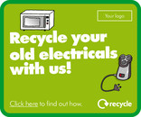 'Recycle your old electricals with us!' Web Banners