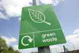 Green waste sign at recycling centre