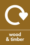 Wood & Timber signage - Logo (portrait)