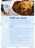 Recipes: Perfect portions,chilli con carne