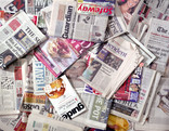 Assorted newspapers and magazines