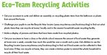 Eco team activity ideas - key stages 1 and 2