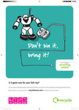 Don't Bin it Bring it - A3 poster for toys