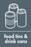 Food tins and Drink cans signage - tin & cans icon (portrait)